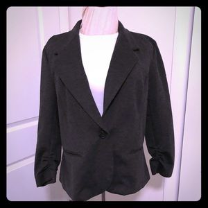 Jackets & Blazers - Jersey-Stretch Blazer, Charcoal Gray